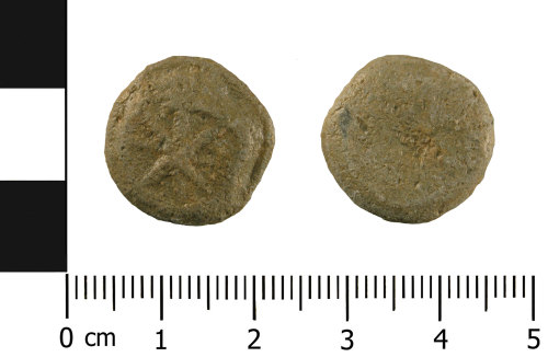 WMID-DF2DCB: lead alloy token of later medieval to post-medieval date (front and reverse)st