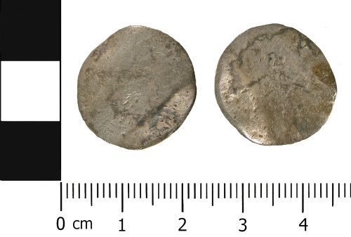 WMID-F7F45A: Post Medieval silver shilling of William III (obverse and reverse)