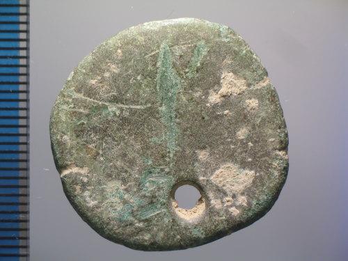 BM-036199: Roman coin : sestertius of Commodus Caesar (obverse)
