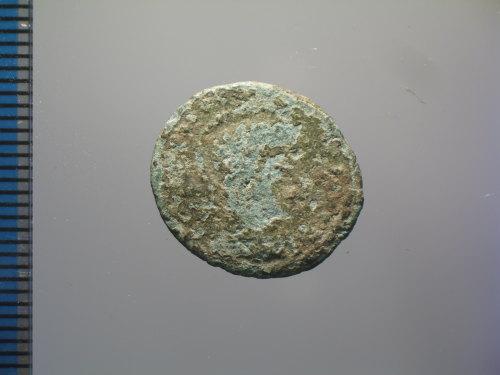 BM-545D43: Roman coin : copy of a nummus of Constantine I, VICTORIAE LAETAE PRINC PERP (obverse)