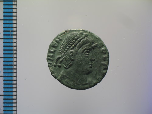 BM-1A2B1D: Roman coin : nummus of Valens, GLORIA ROMANORVM (obverse)