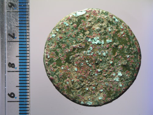 A resized image of Roman coin : sestertius of Lucius Verus (reverse)