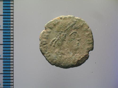 BM-A7F353: Roman coin : nummus of Valens, SECVRITAS REI PVBLICAE (obverse)