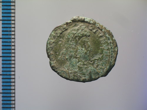 BM-C05D5D: Roman coin : nummus of Constantius II, FEL TEMP REPARATIO (obverse)