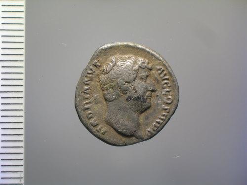 BM-98FACC: Roman coin: denarius of Hadrian (obv.)
