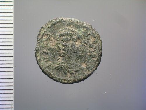 BM-AABD57: Roman coin: plated denarius of Julia Domna (obv.)