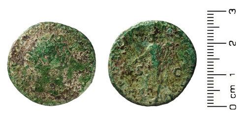HESH-0DE172: Roman Coin: Sestertius (obverse and reverse)