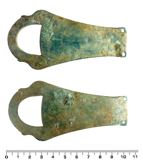 HESH-6403DC: Roman Trulla handle (front and back)