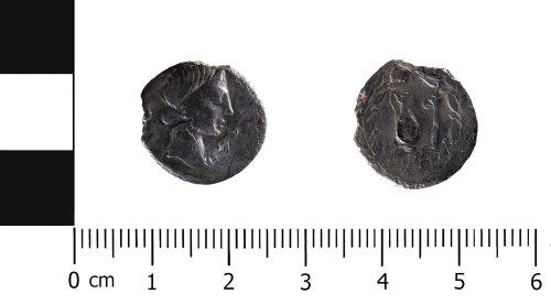HESH-9DE919: Roman Coin: denari of Quintus Caecilius Metellus Pius (obverse and reverse)