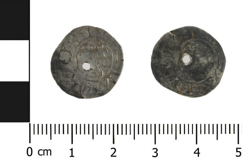 HESH-BE283B: Medieval Coin: short cross penny of John (obverse and reverse)ch