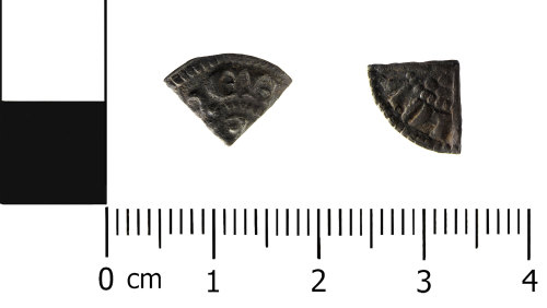 HESH-CCA949: Medieval cut penny of Henry III (obverse and reverse)
