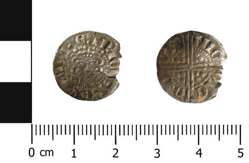 HESH-DA5E31: Medieval silver penny of Henry III (obverse and reverse)