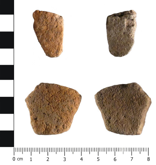 HESH-F35793: Roman Severn Valley Ware: two sherds (front, reverse)