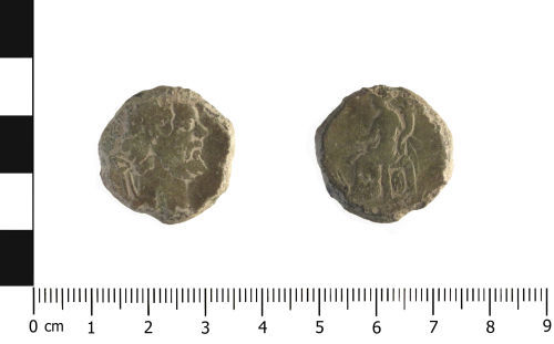 WAW-C98E14: Roman Coin: as of possibly Septimus Severus (Obverse & Reverse)