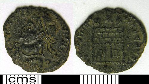 LVPL-478436: Copper alloy numus of Constantine, (307-337).