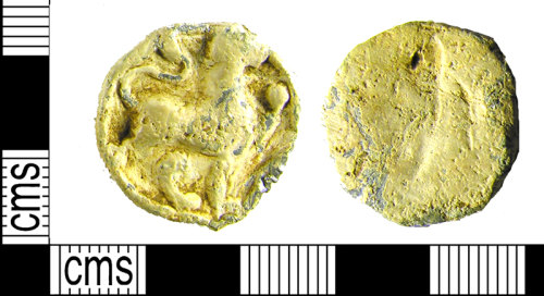 LVPL-A99A84: Cast lead token dating to the Post-Medieval period, (1500-1700).
