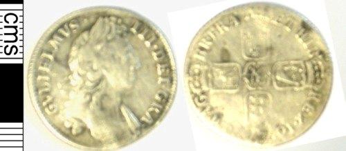 LVPL-0AC1E6: Silver shilling of William III, (1694-1702).