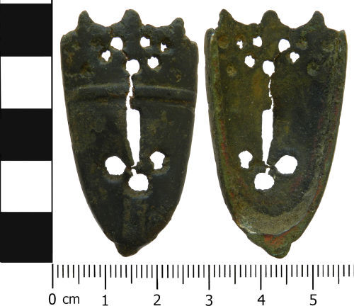 LVPL-0E0350: Medieval scabbard chape