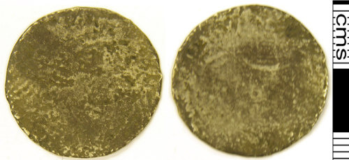 LVPL-1056D0: Silver coin of uncertain date, possibly of Charles I or II, (1625-1685).