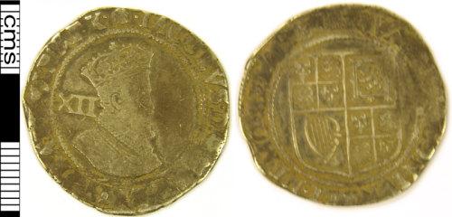 LVPL-116824: Silver coin of James I, (1603-1625).