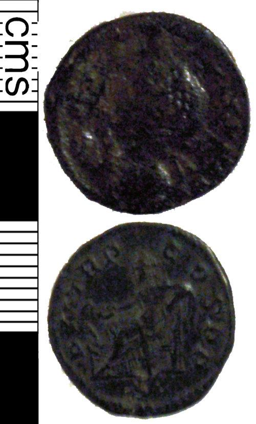 LVPL-1DD827: Base silver denarius of Severus Alexander, (222-235AD).