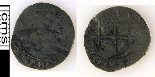 A resized image of Silver halfgroat of Elizabeth I, (1558-1603).