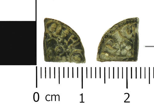 LVPL-4DFAE6: Medieval cut quarter penny of Henry III