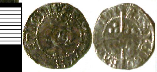 LVPL-632B77: Silver penny of Richard II, (1377-1399).
