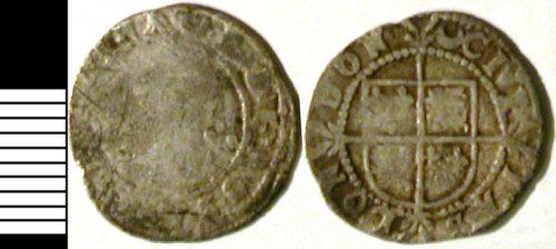 LVPL-63D436: Silver halfgroat of Elizabeth I, (1558-1603).