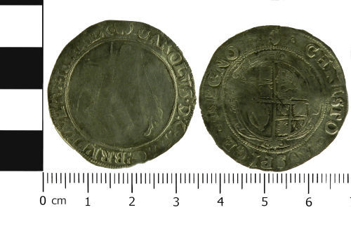 LVPL-63ED31: Post-Medieval half crown of Charles I