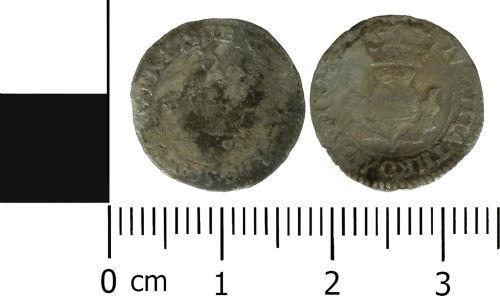 LVPL-668499: Post-Medieval twentypence of Charles I