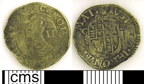 LVPL-73E936: Silver half groat of Charles I, (1625-1649).