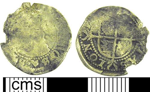 LVPL-743C73: Silver halfgroat of Elizabeth I, (1558-1603).