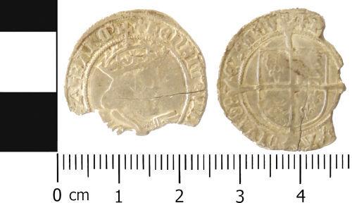 LVPL-8BCF05: Silver groat of Henry VIII, (1509-1547).