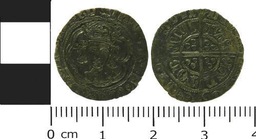 LVPL-A9BDC8: Silver halfgroat of Henry VII, (1485-1509).