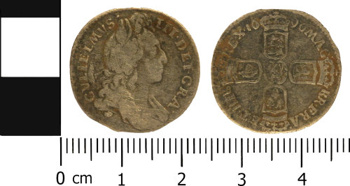 LVPL-AB853D: Post-Medieval sixpence of William III