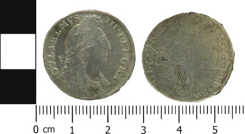 LVPL-C1BFFD: Post-Medieval shilling of William III