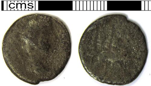 LVPL-C983C6: Copper alloy Roman coin.