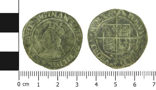 LVPL-D2AE52: Post-Medieval shilling of Elizabeth I