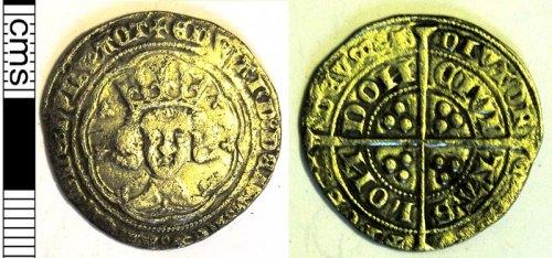 LVPL-E0F990: Silver groat of Edward III, (1327-1377).