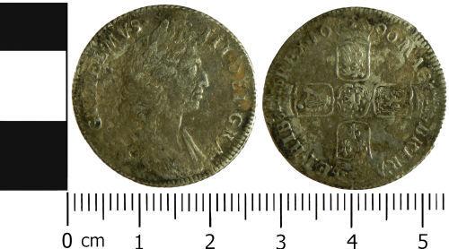 LVPL-E8E924: Post-Medieval shilling of William III