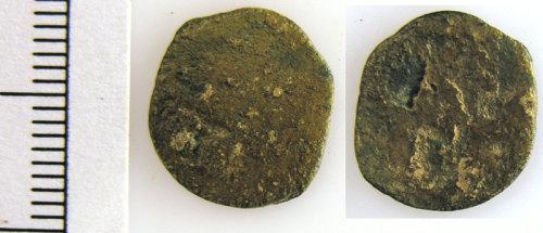 LVPL-ED9536: Copper alloy Roman coin, emperor unknown.