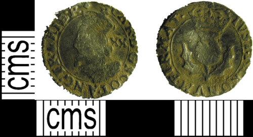LVPL-F1F301: Silver Scottish twentypence of Charles I, (1625-1649).