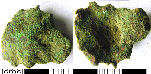 LVPL-FAC0C3: Cast copper alloy object of uncertain function and date.