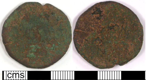 LVPL-FD8FD7: Large bronze coin of unknown date.