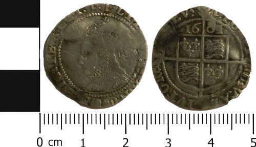 LVPL-FF8BF6: Post-Medieval sixpence of Elizabeth I