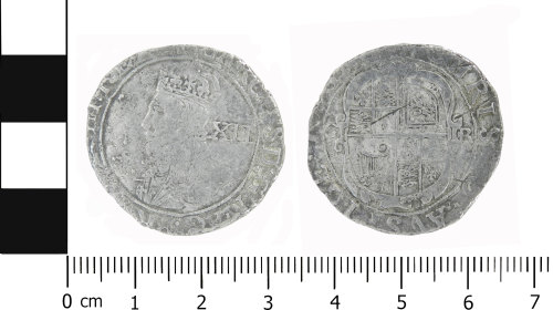 LVPL-03E46F: Post-medieval shilling of Charles I