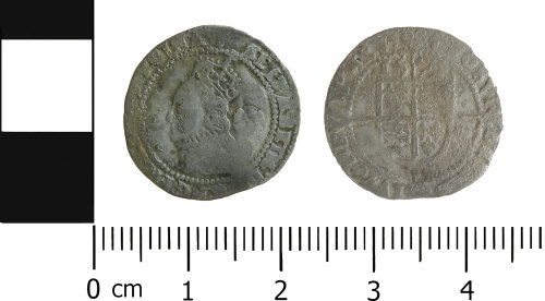 LVPL-1D14CC: Post-medieval threepence of Elizabeth I