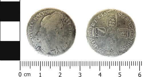LVPL-317E79: Post Medieval shilling of William III