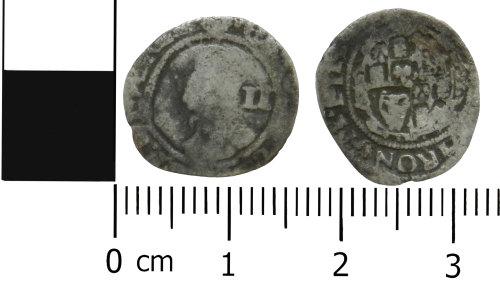 LVPL-3D2C4D: Post-Medieval halfgroat of Charles I
